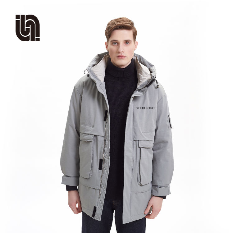 Winter Warm Jackets Thicken Outerwear Men Cotton Parka Coat Men Casual Collar Hooded Jackets Parka