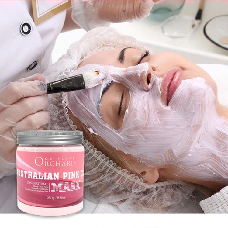 Naturais Australiano Rosa Argila Pore Refining Máscara Facial de Argila, Bentonita Natural Máscara de Argila Facial