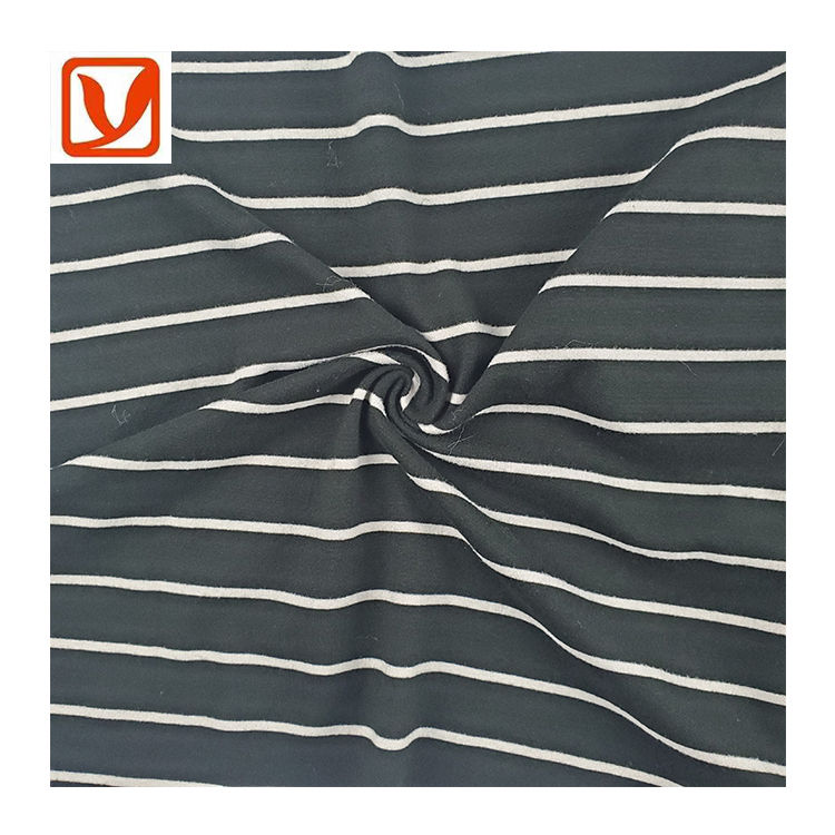 hot sale 100% polyester stripe pattern cationic polyester single dye jersey fabric