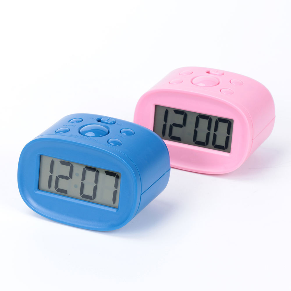 Wholesale Soft Blue Display Backlight Table LCD Mini Alarm Clock Digital Electronic Home Office Children Alarm Clock