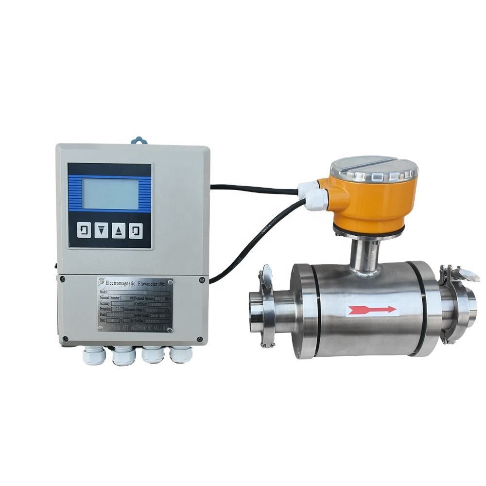 sanitary electromagnetic flow meter tri clamp food flow meter