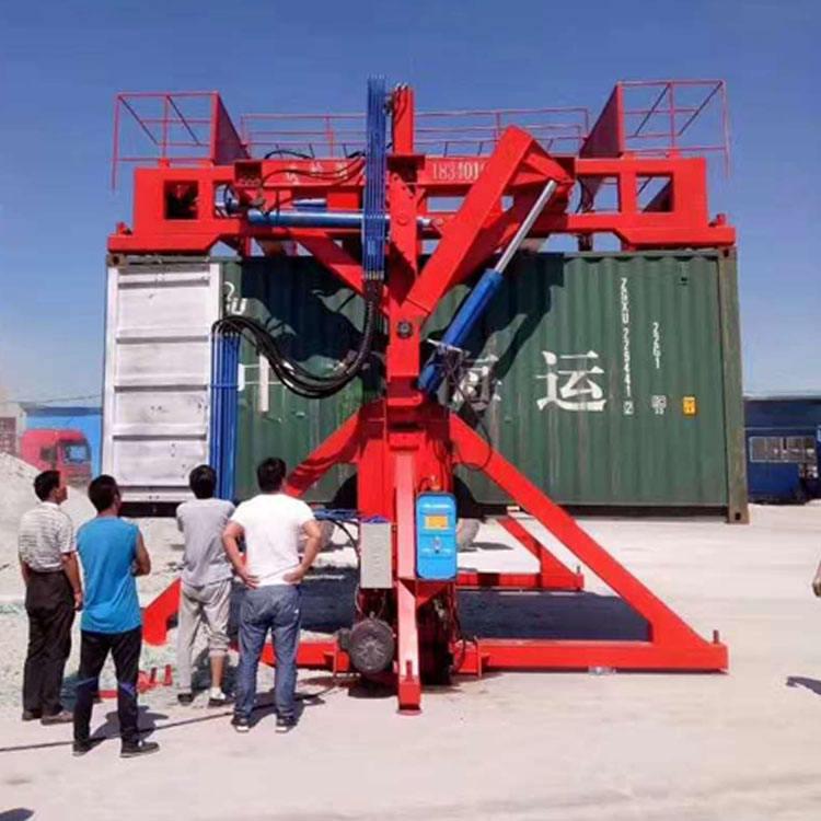 De carga de los servicios de carga y descarga de descarga servicios contenedor Tilter de la máquina