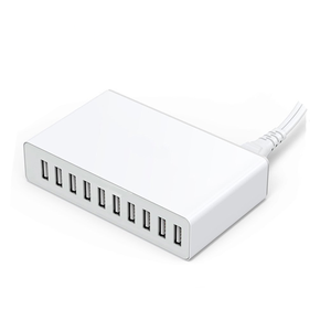 USB Charger 50 W 10 พอร์ต USB HUB Wall Charger US/EU/UK/AU 10 in 1 USB Charger CABLE