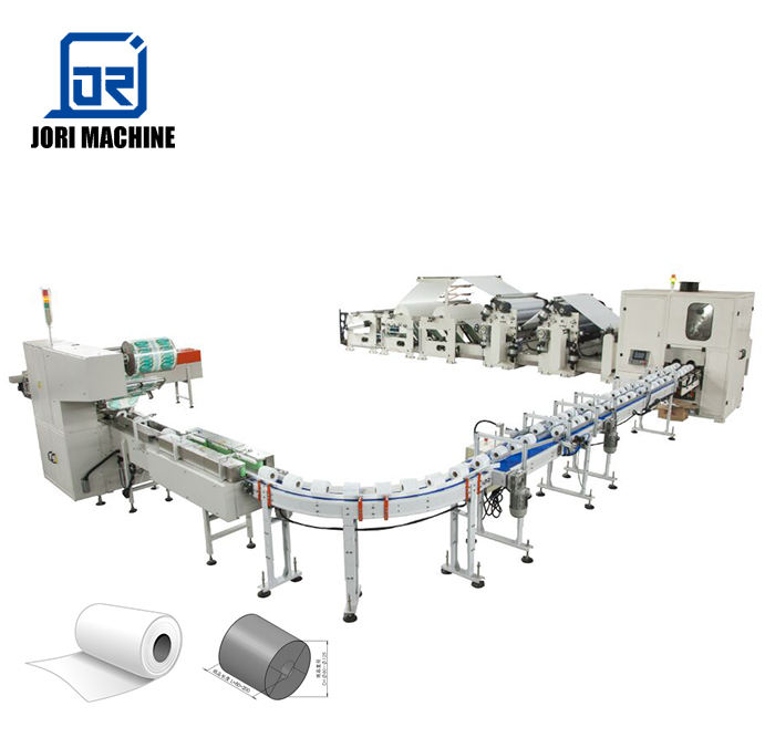 Full Automatic Toilet Paper and Kitchen Towel Rewinding Machine