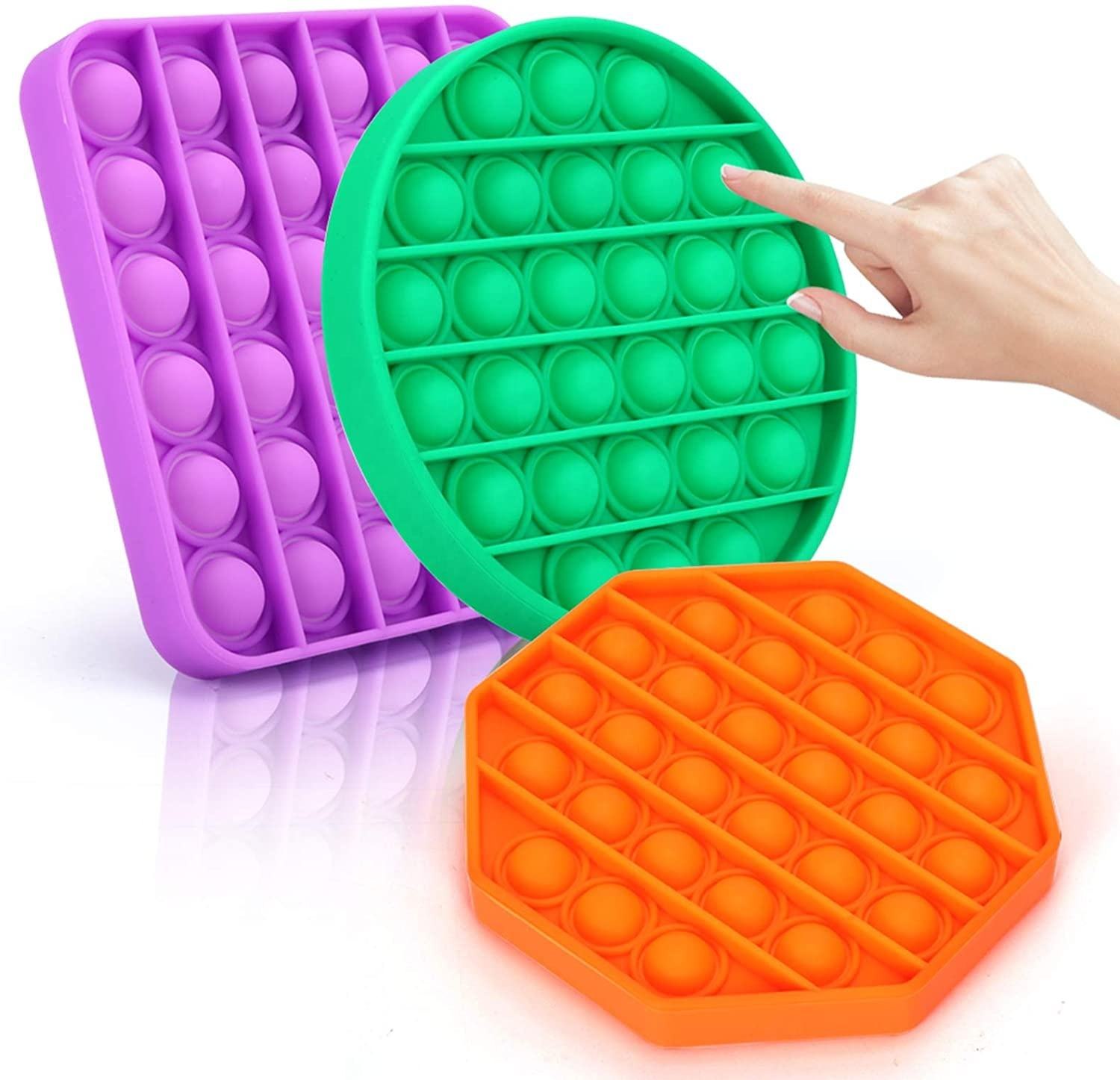 Großhandel Amazon Hot Selling Weiche Silikon Linderung Stress Angst <span class=keywords><strong>Spielzeug</strong></span> Autismus Push Beliebte Schaum Gadget Sensory Toys