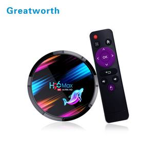 Greatworth Factory H96 max X3 S905X3 4k HDR ram 4gb ddr 32GB 64GB 128GB internet android 9.0 tv set top box H96Max Set top box