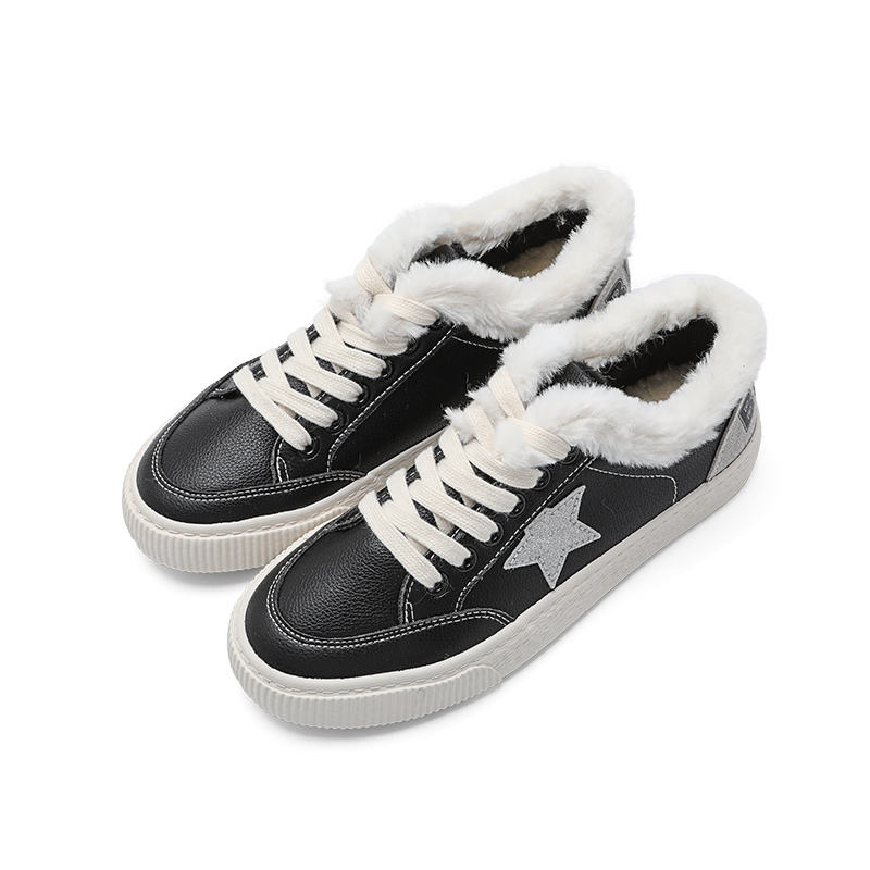 New design Women winter outdoors cotton casual Walking fur skateboard shoes