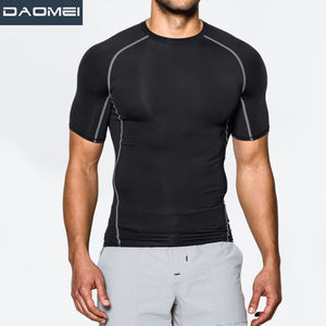 quality design your own fitness wear spandex compression wear sport running shirt