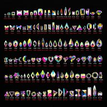 Mix Sizes Different Shapes Colorful AB 3D nail art rhinestone for Nail Art Beauty Design