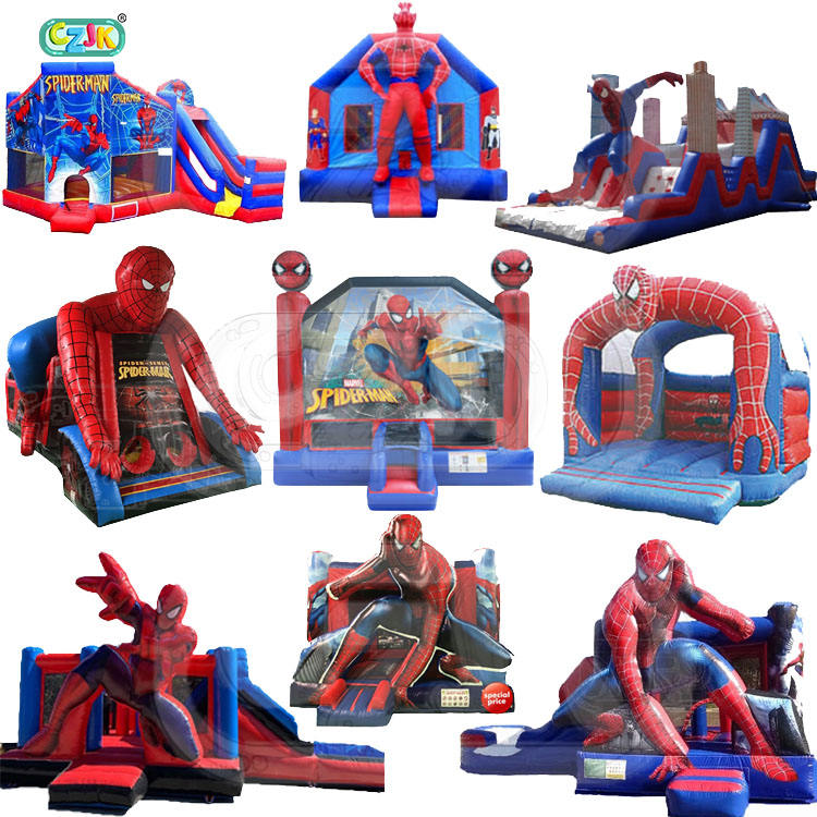 inflatable bouncer jump bouncy castle jumper small spiderman spider-man spider man bounce house combo art panel for kids