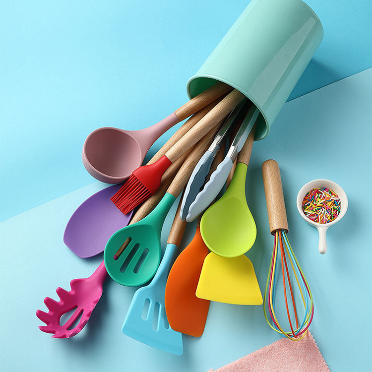 colorful kitchen utensils kitchenware set kitchen accessories set silicone kitchen utensil set