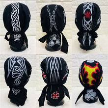 Custom Men Women Doorag Multifunction Hip-hop Outdoor Halloween Style Bandana Bandanas Cap Hat