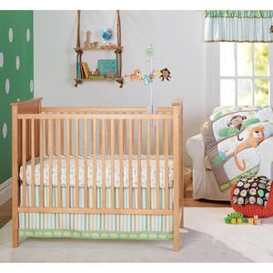 High Quality Breathable Soft Cotton Jungle Safari Nursery Hypoallergenic 6-Piece Baby Crib Bedding Set for Newborn
