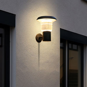 Modern Ip65 waterproof outdoor led solar sconce wall light