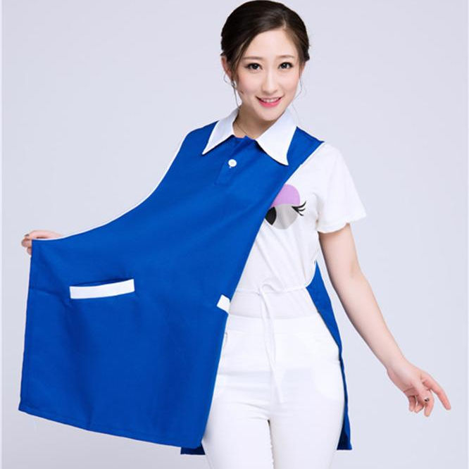 Promotional Printed Your Logo polyester long uniform Apron