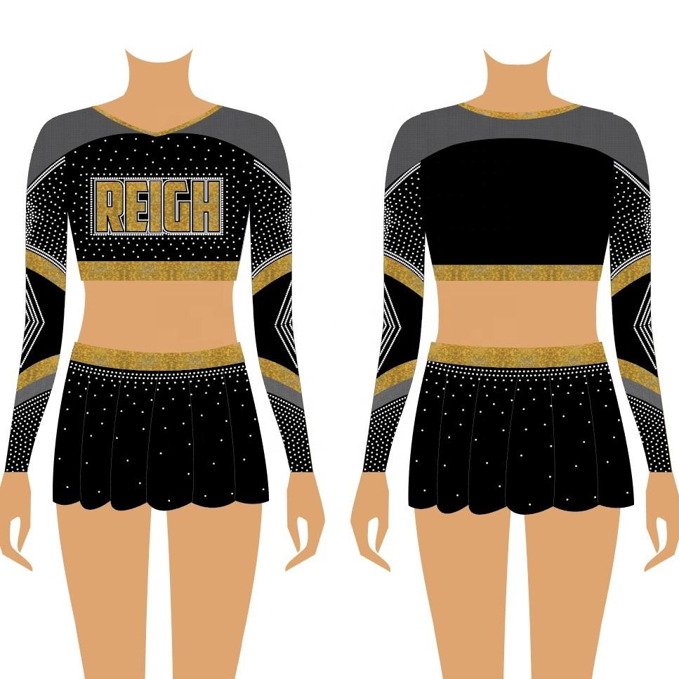 Meisjes <span class=keywords><strong>Cheerleading</strong></span> <span class=keywords><strong>Kleding</strong></span> Oem Custom Jeugd Cheerleeder Mesh Cheer Custom Uniformen