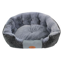 New products 2019 round luxury plush soft cozy warm pet beds dog