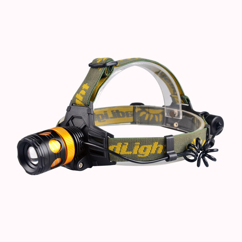500 Lumens Hight Power XML T6 LED Cold White Light Rechargeable Zoom Head Lamp Torch with One 18650 Battery