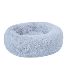 High Quality Kitty Cozy Sleeping Round Kennel Cushion Plush Pet Bed for Dogs Cats