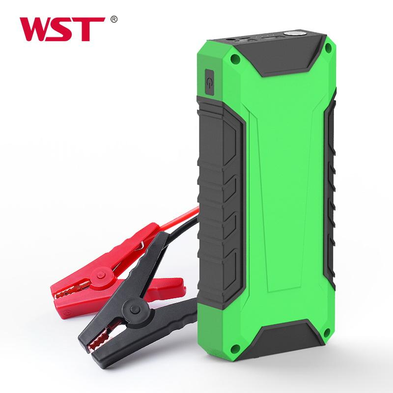 High quality car batter starter 600A peak 10000mAh 12V car auto jump starter power pack with jump cable quick charge