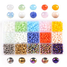 Wholesale Small Craft Crystal Glass Beads , DIY Glass Rondelle Beads For Jewelry Making