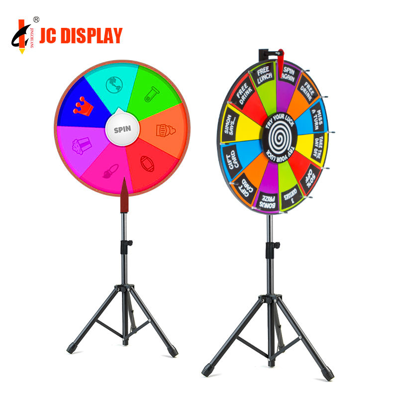 Lucky Spin Fortune Customized Win Tripod Prize Wheel
