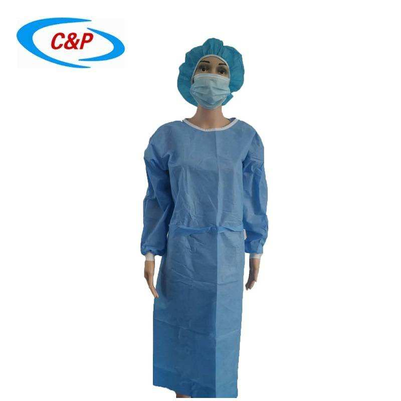 Disposable Isolation Gown AAMI Level 2 SMS Non woven Isolation Gown