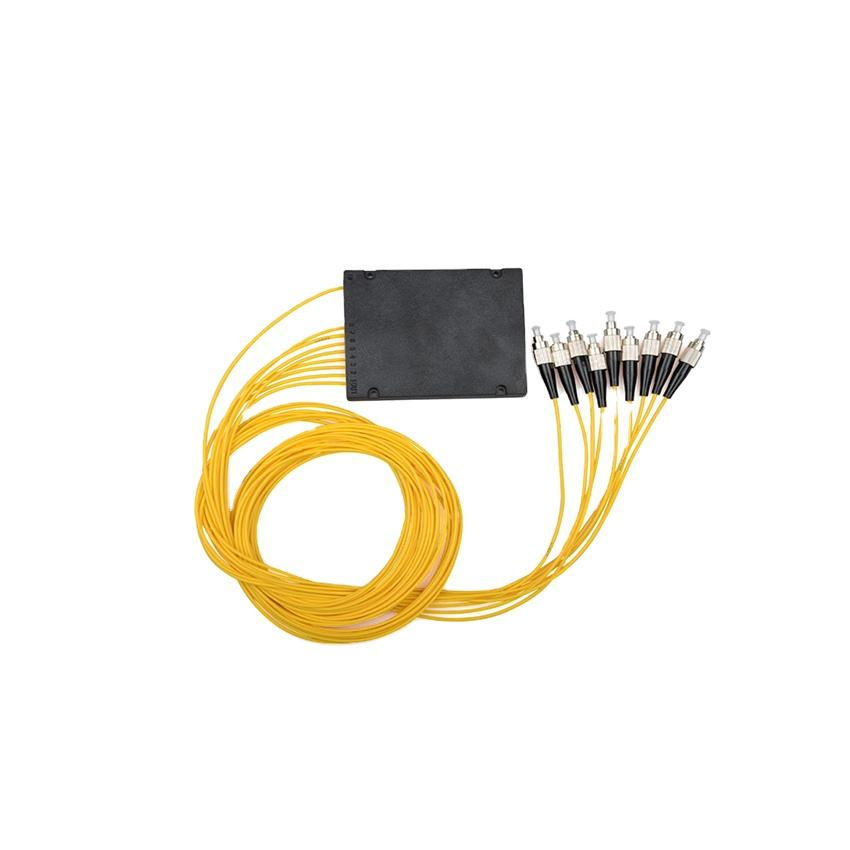 1x8 1IN 8 OUT 8 çekirdekli Fiber optik ABS kutusu PLC Splitter 2.0 3.0 <span class=keywords><strong>SC</strong></span> FC APC UPC splitter