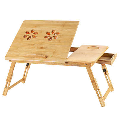 Wholesale multifunction Bamboo table for laptop computer with Adjustable Leg, Small table for laptop