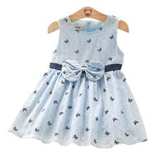 Summer dress for girls 2020 new dress cute baby bow sundress Korean version butterfly print skirt