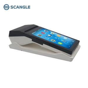 Scangle 7 Inch Handheld Android Tablet Mobile Pos Terminal With 80mm Thermal Printer support 3G Bluetooth WIFI