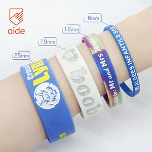 Thin Blue Line Fitness Kids Sports Silicone Charm Rubber College Football Team Bracelets With Silk Printing Engrave