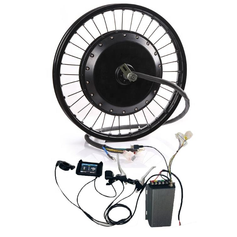 120 kmh! Alta Power60V-96V brushless motor do cubo 3000w 5000w 8000w kit de conversão e bicicleta com 18''19''20''21''26'700C28''29'''wheel