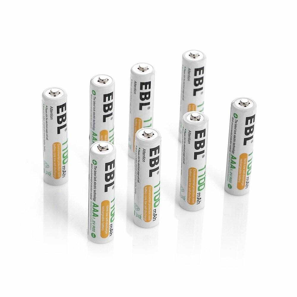 EBL 1.2V 1100mAh aaa rechargeable battery Ni-MH batteries with RoHS certification