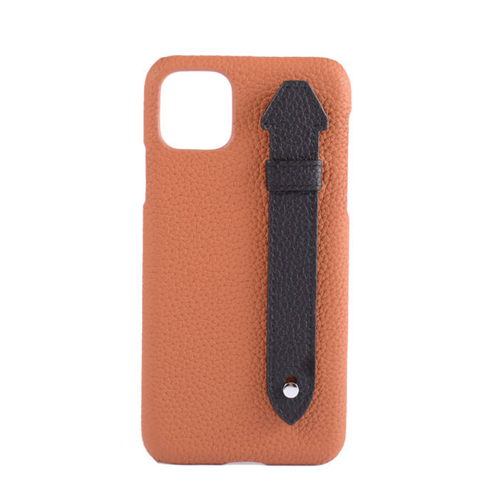 Genuine Leather Smartphone Mobile Phone Case Cover With Handle For Iphone 12プロMax