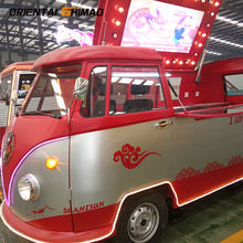 China manufacture Volkswagen retro Vintage used food trucks fiberglass food cart for sale