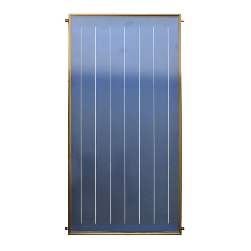 SRCC and Solar Keymark Certificate Stable Quality Solar Absorber Blue Flat Plate Thermal Solar Water Collector For House