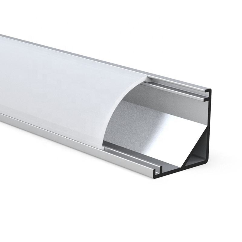 Led Aluminum Corner Profile With Pc Cover Channel 90 Degrees Angle Silver Black White Aluminum Strip Extruded Led Corner Profile//