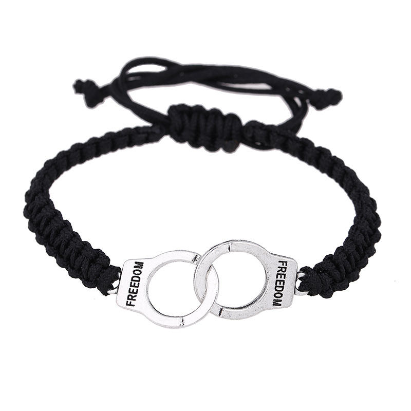 Hot selling accessories 50 degrees gray handcuffs bracelet European and American fashion hand-woven bracelet hand rope