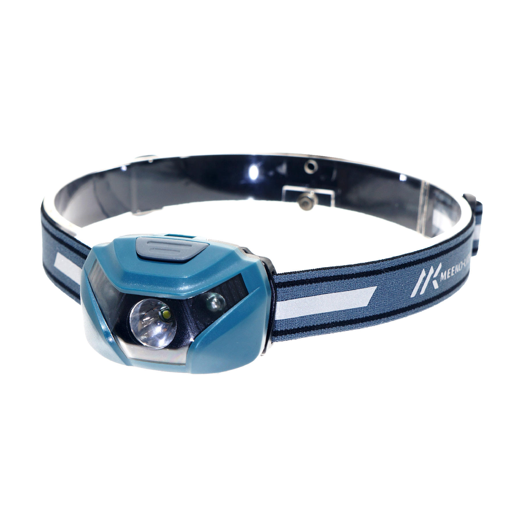 Head Light 3AAA Battery Plastic Headlamp With Red Light