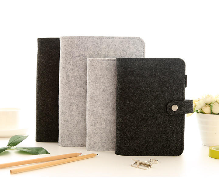 A6 Size Black Ring Binder Planner Cover Notebook Glitter Loose Leaf Binder Protector with Snap Button Closure