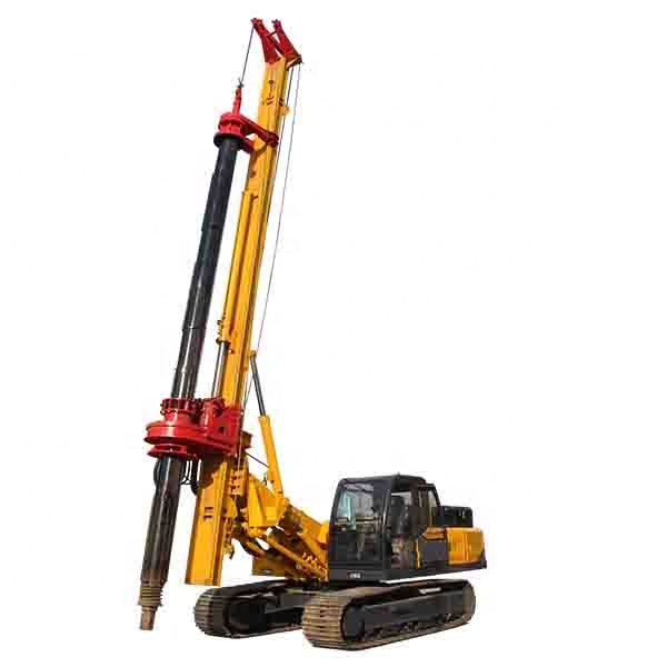 Hengwang 30m hydraulic ground screw bore pile driving machine auger rotary piling rig