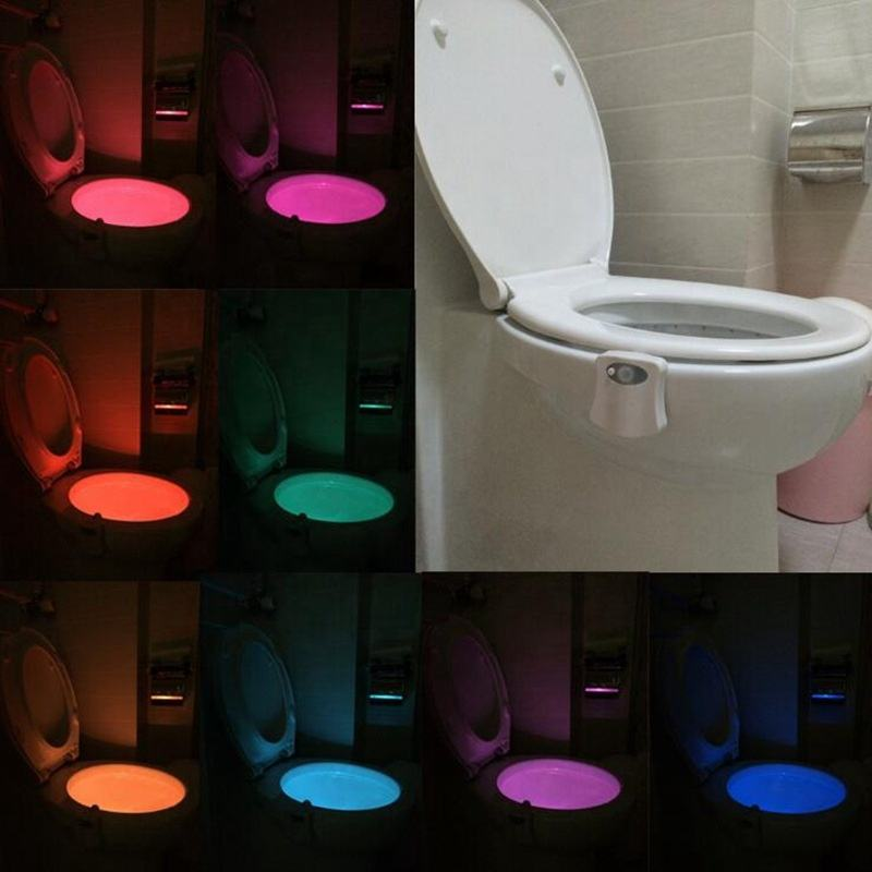 2017 New Arrival Sensor 16-Color Motion Activated LED Toilet Night Light,Toilet Bowl Light