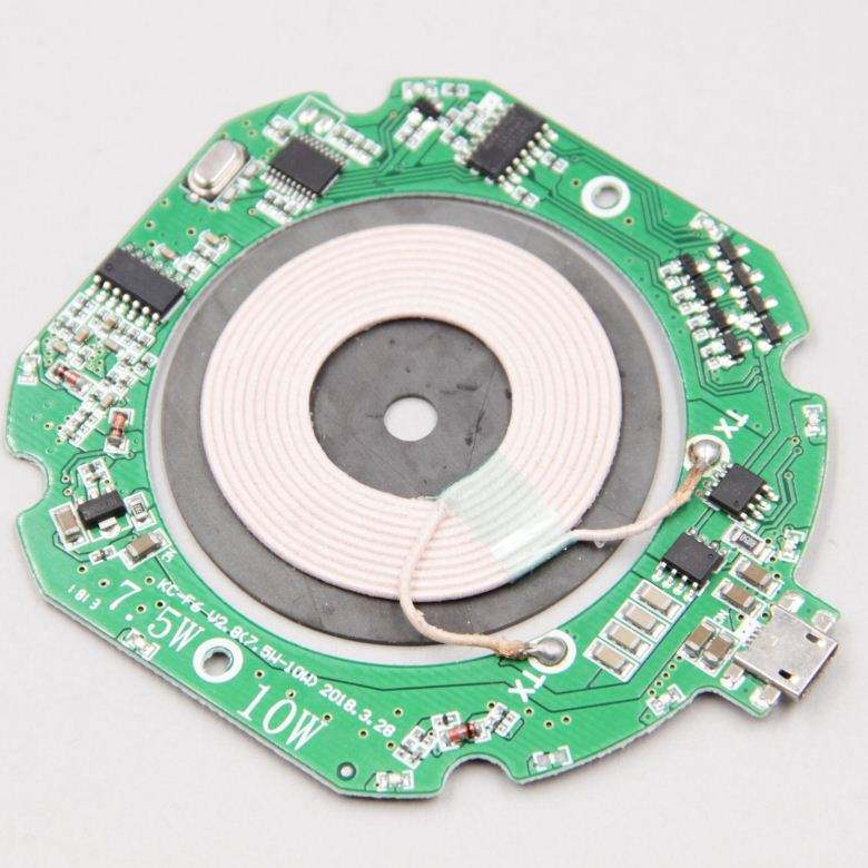 Wireless Quick Charger Circuit Qi Certified 10W FAST Wireless Charger Module PCB PCBA 7.5w output qi-certified board