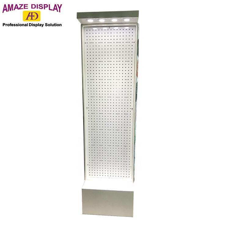 factory manufacturing top grade floor standing wooden watch display stand hanging merchandise display with LED light