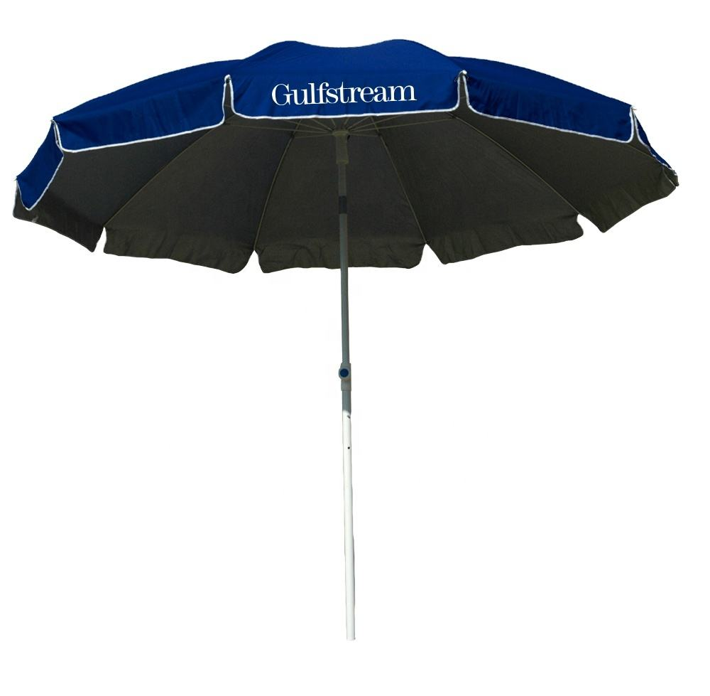 advertising OEM polyester beach umbrellas