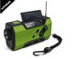 Mini portable Emergency dynamo rechargeable hand crank am fm sw solar radio with LED flashlight and power bank