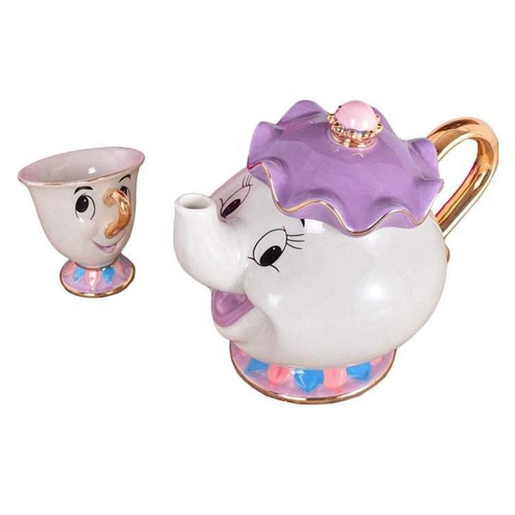 Baru Beauty And The Beast Ibu Potts Chip Porselen Teh Pot Cangkir Set Teko