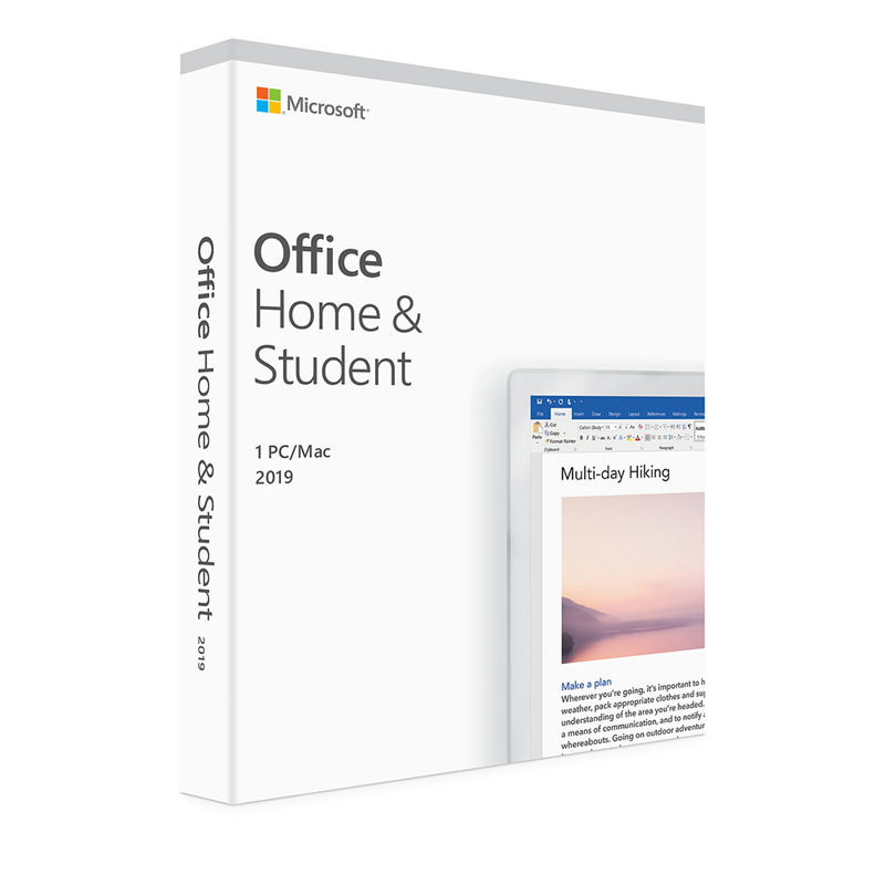 Chave de ativação Do Microsoft Office 2019 Home and Student Retail Box Pacote Para o Windows 10 software download digital