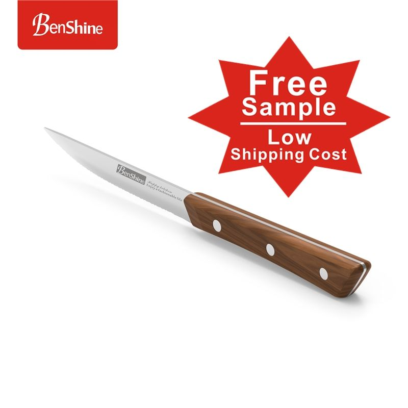 Best Seller 4.5inch Oem Stainless Steel Steak Knife With Wooden Handle